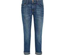 The Fling Embellished Mid-rise Straight-leg Jeans Mid Denim  3