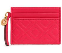 Quilted Leather Cardholder Magenta Size --