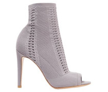 Vires 105 Open-knit Ankle Boots Taupe