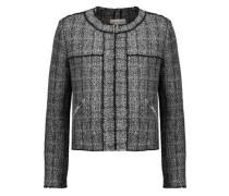 Frayed wool-blend bouclé jacket