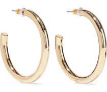 22-karat Gold-plated Hoop Earrings Gold Size --