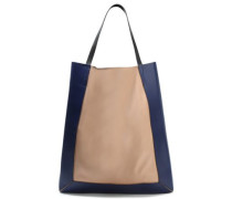 Glossed And Smooth-leather Tote Blush Size --
