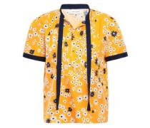 Pintucked Cotton And Silk-blend Blouse Saffron Size 12
