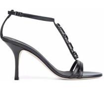Taz crystal-embellished leather sandals