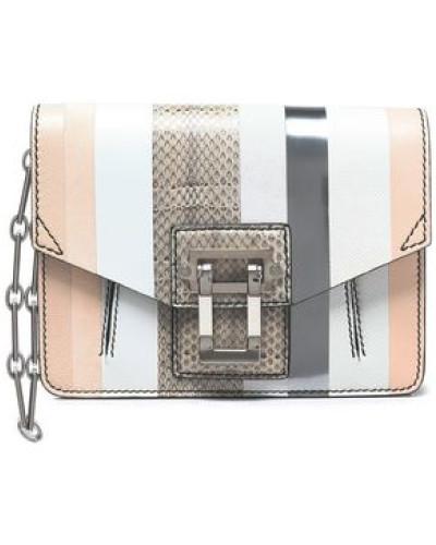 Proenza Schouler Damen Hava paneled karung, ayers, and leather shoulder bag