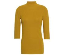 Merino Wool, Silk And Cashmere-blend Turtleneck Sweater Mustard