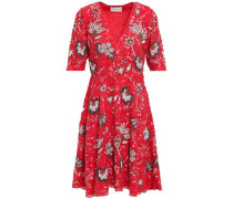 Chacha Embellished Cotton Dress Red