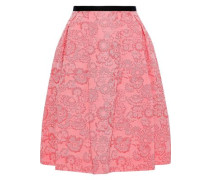 Ari Pleated Jacquard Skirt Pink