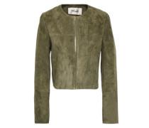 Suede Jacket Leaf Green
