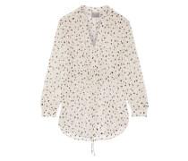Printed silk-gauze blouse