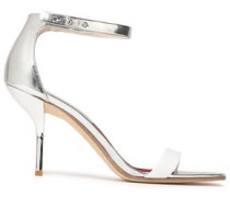 Ferrara suede and metallic leather sandals