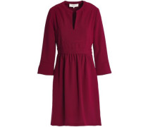 Gathered Crepe Dress Plum