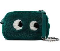 Eyes mini shearling shoulder bag