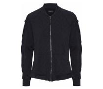 Glance ruffle-trimmed jacquard bomber jacket