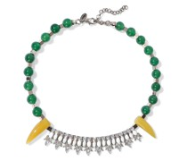 Woman Gold-tone, Bead, Stone And Crystal Necklace Multicolor