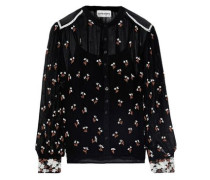 Tahira Bead And Sequin-embellished Georgette Blouse Black