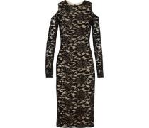 Cold-shoulder corded-lace dress