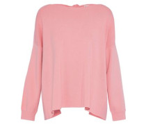 Woman Olivia Tie-back Stretch-knit Top Baby Pink
