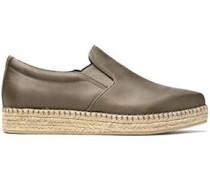 Textured satin espadrille sneakers