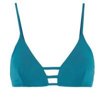 Perth Lattice-trimmed Triangle Bikini Top Teal