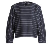 Striped cotton-poplin blouse