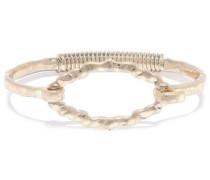 Hammered 22-karat Gold-plated Bangle Gold Size --