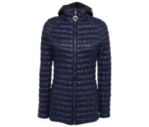 Woman Quilted Shell Hooded Jacket Navy