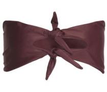 Knotted bandeau bikini top