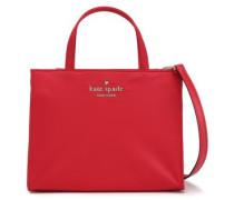 Leather-trimmed Shell Shoulder Bag Crimson Size --