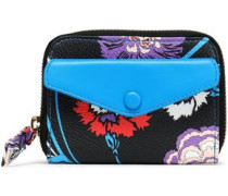 Printed Faux Leather Wallet Black Size --