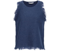 Frayed Cotton Top Navy