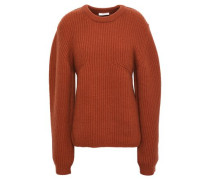 Ribbed Cashmere Sweater Brown