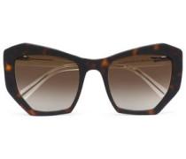 Round-frame Acetate Sunglasses Dark Brown Size --