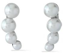 Silver-tone faux pearl earrings