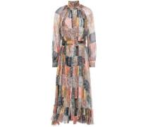 Woman Ninety Six Oversized Printed Silk-crepon Midi Dress Multicolor