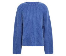 Loretta Oversized Ribbed Cashmere Sweater Azure