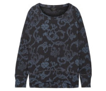 Max Oversized Printed French Cotton-terry Sweatshirt Indigo