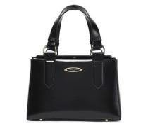 Glossed-leather shoulder bag