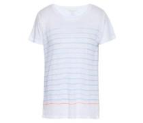Striped Slub Linen T-shirt White