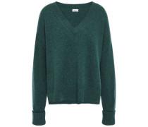 Mélange Wool Sweater Dark Green