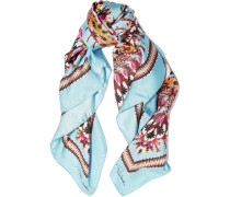 Day Dream Printed Silk Scarf Himmelblau