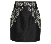 Crystal-embellished Matelassé Mini Skirt Black