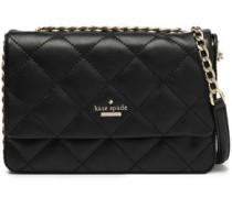 Chain-trimmed Quilted Leather Shoulder Bag Black Size --