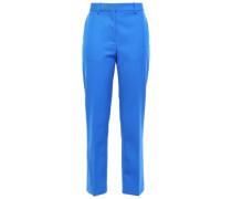 Wool-twill Straight-leg Pants Cobalt Blue