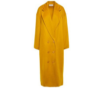 Woman Oversized Wool And Cashmere-blend Coat Mustard