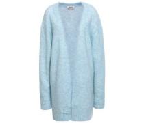 Mélange Brushed-knitted Cardigan Sky Blue
