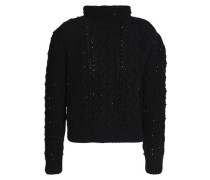 Beaded wool and cashmere-blend turtleneck sweater
