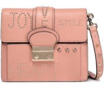 Studded Leather Shoulder Bag Blush Size --