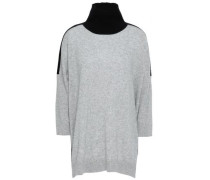Cashmere And Wool-blend Turtleneck Sweater Light Gray