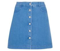 Stretch-denim mini skirt